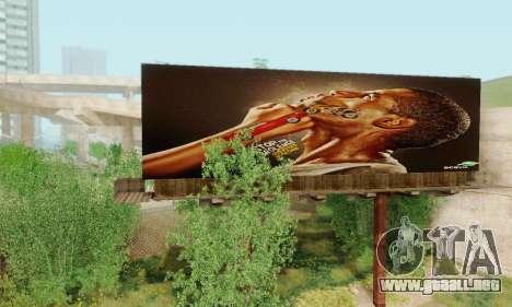 Nuevo de alta calidad de la publicidad en los ca para GTA San Andreas sexta pantalla