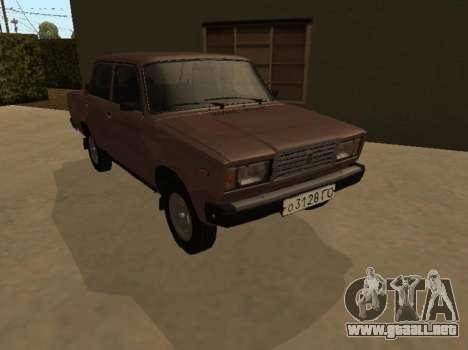 VAZ 2107 versión Temprana para GTA San Andreas vista hacia atrás