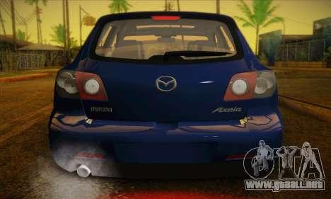 Mazda Axela Sport 2005 para vista lateral GTA San Andreas