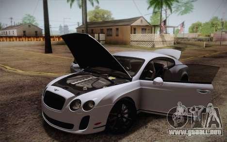Bentley Continental SuperSports 2010 v2 Finale para GTA San Andreas interior
