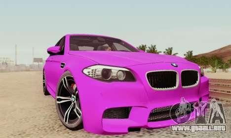 BMW F10 M5 2012 Stock para las ruedas de GTA San Andreas