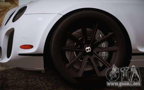 Bentley Continental SuperSports 2010 v2 Finale para GTA San Andreas vista posterior izquierda