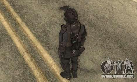 Personalizado из CoD:Ghost para GTA San Andreas tercera pantalla
