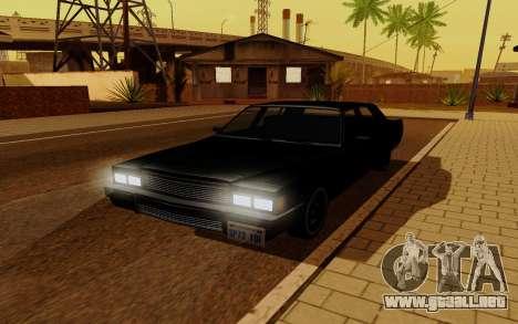 Emperor GTA 5 para GTA San Andreas vista posterior izquierda
