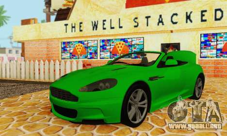 Aston Martin DBS Volante para visión interna GTA San Andreas