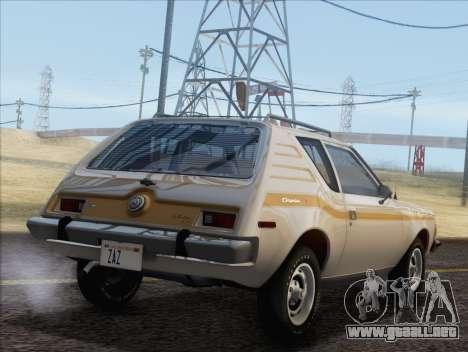 AMC Gremlin X 1973 para GTA San Andreas left