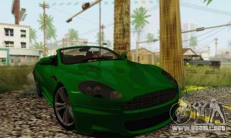 Aston Martin DBS Volante para GTA San Andreas vista posterior izquierda