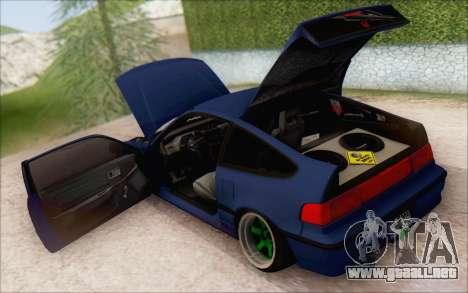 Honda cr-x, Turquía para GTA San Andreas vista posterior izquierda