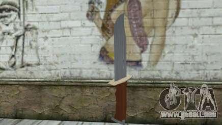 Militar cuchillo para GTA San Andreas