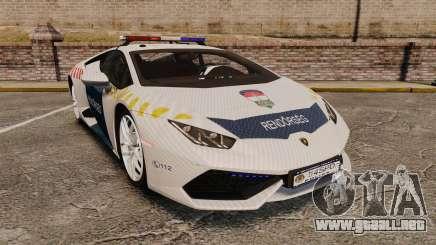 Lamborghini Huracan Hungarian Police [Non-ELS] para GTA 4