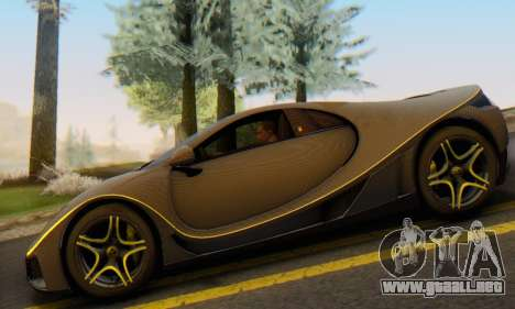 GTA Spano 2014 Carbon Edition para GTA San Andreas vista hacia atrás