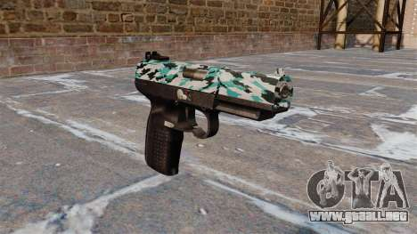 Pistola FN Five seveN Aqua Camo para GTA 4