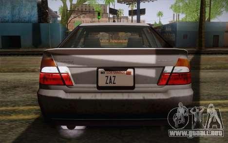 El sultán из GTA 5 para la vista superior GTA San Andreas