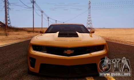 Chevrolet Camaro ZL1 2014 para visión interna GTA San Andreas