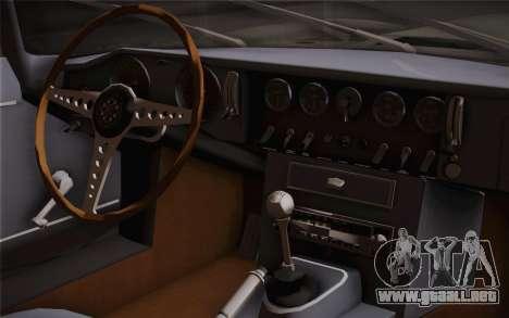 Jaguar E-Type 4.2 para la visión correcta GTA San Andreas