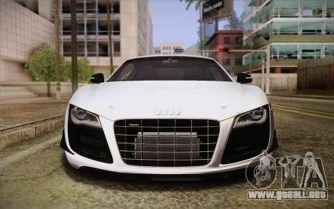 Audi R8 GT 2012 para visión interna GTA San Andreas