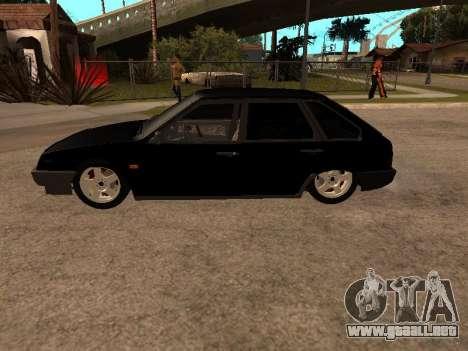 VAZ 2109 Gangster nueve V 1.0 para la visión correcta GTA San Andreas
