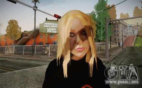 Avril Lavigne para GTA San Andreas tercera pantalla