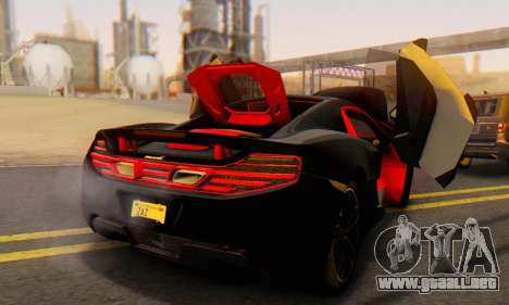 Mclaren MP4-12C Spider Sonic Blum para el motor de GTA San Andreas