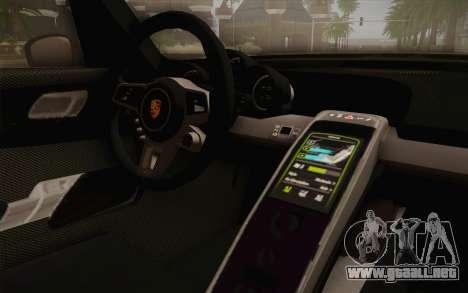 Porsche 918 2013 para la visión correcta GTA San Andreas