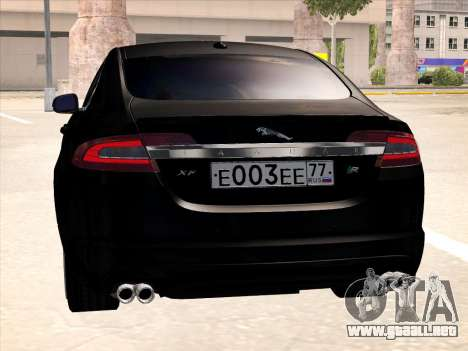 Jaguar XFR para GTA San Andreas vista hacia atrás