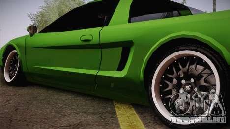 Infernus Racing Edition para GTA San Andreas vista posterior izquierda