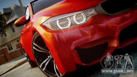 BMW M4 Coupe 2014 v1.0 para GTA 4 visión correcta