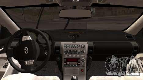 Infiniti G35 Coupe (V35) 2003 para la visión correcta GTA San Andreas