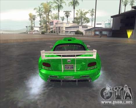 Dodge Viper SRT de NFS MW para la visión correcta GTA San Andreas