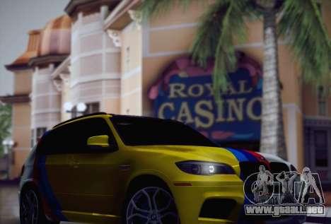 BMW X5M 2013 para la vista superior GTA San Andreas