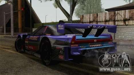Honda NSX World Grand Prix para GTA San Andreas left