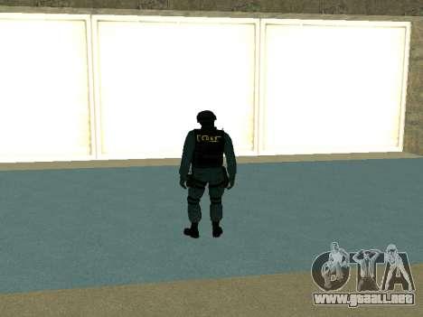 La piel SOBR para GTA San Andreas segunda pantalla