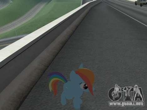Rainbow Dash para GTA San Andreas sexta pantalla