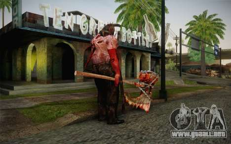 Verdugo (Resident Evil 5) para GTA San Andreas segunda pantalla