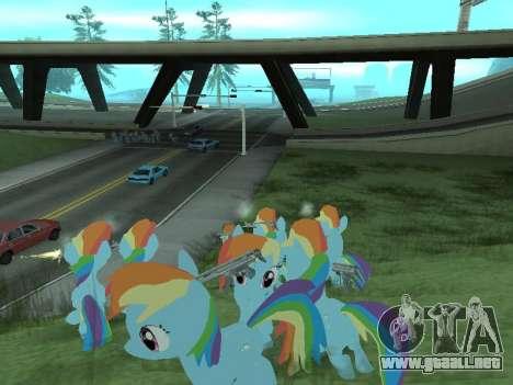 Rainbow Dash para GTA San Andreas novena de pantalla