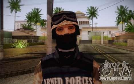 SWAT Desert Camo para GTA San Andreas tercera pantalla