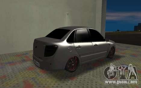 VAZ 2190 de la Subvención para GTA San Andreas vista posterior izquierda