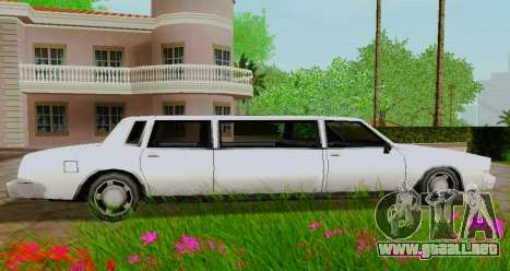 Tahoma Limousine para GTA San Andreas left