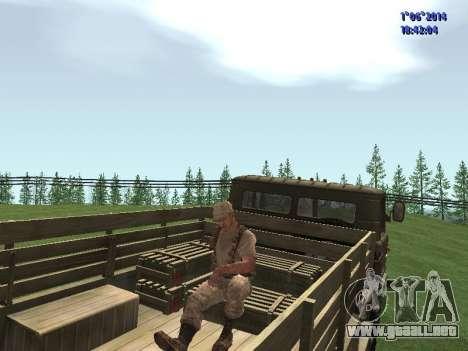 Afghanistan Soviet Soldiers para GTA San Andreas sucesivamente de pantalla