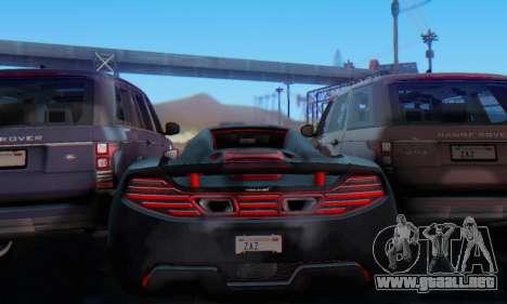 Mclaren MP4-12C Spider Sonic Blum para la vista superior GTA San Andreas