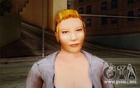 Woman Autoracer from FlatOut v2 para GTA San Andreas tercera pantalla