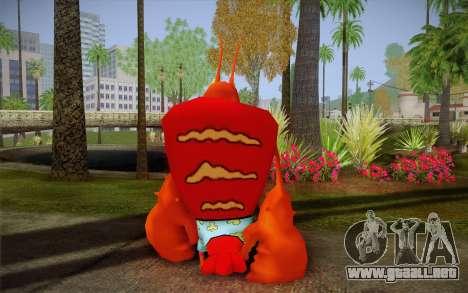 Larry La Langosta (De Bob Esponja) para GTA San Andreas segunda pantalla