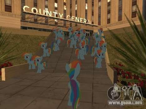 Rainbow Dash para GTA San Andreas quinta pantalla
