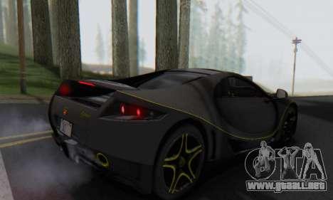 GTA Spano 2014 Carbon Edition para GTA San Andreas left