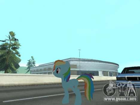 Rainbow Dash para GTA San Andreas séptima pantalla