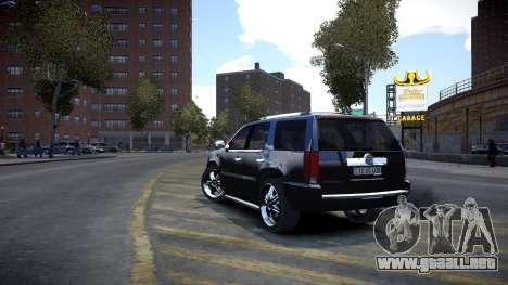 Cadillac Escalade para GTA 4 visión correcta