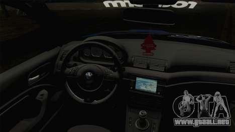 BMW M3 E46 STANCE para la visión correcta GTA San Andreas