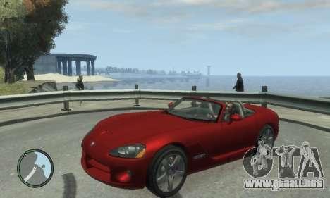 Dodge Viper SRT-10 2003 v2.0 para GTA 4 Vista posterior izquierda