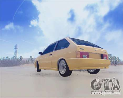VAZ 2112 Sintonizable para GTA San Andreas interior