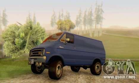 Dodge Tradesman Van 1976 para vista inferior GTA San Andreas
